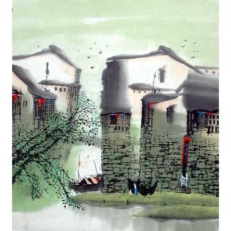 Chinese Water Township Painting - CNAG014482