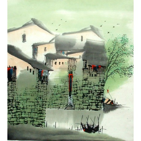 Chinese Water Township Painting - CNAG014484