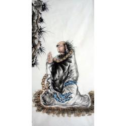 Chinese Bodhidharma Painting - CNAG014881