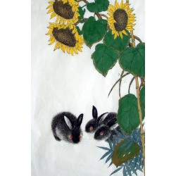 Chinese Rabbit Painting - CNAG014997