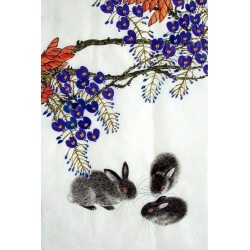 Chinese Rabbit Painting - CNAG015005