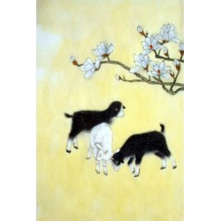 Chinese Sheep Painting - CNAG015007