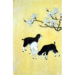 Chinese Sheep Painting - CNAG015009