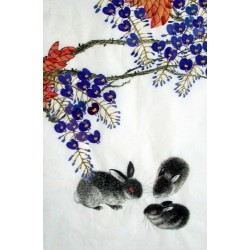 Chinese Rabbit Painting - CNAG015011