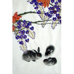 Chinese Rabbit Painting - CNAG015019