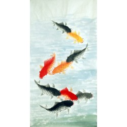 Chinese Fish Painting - CNAG015210