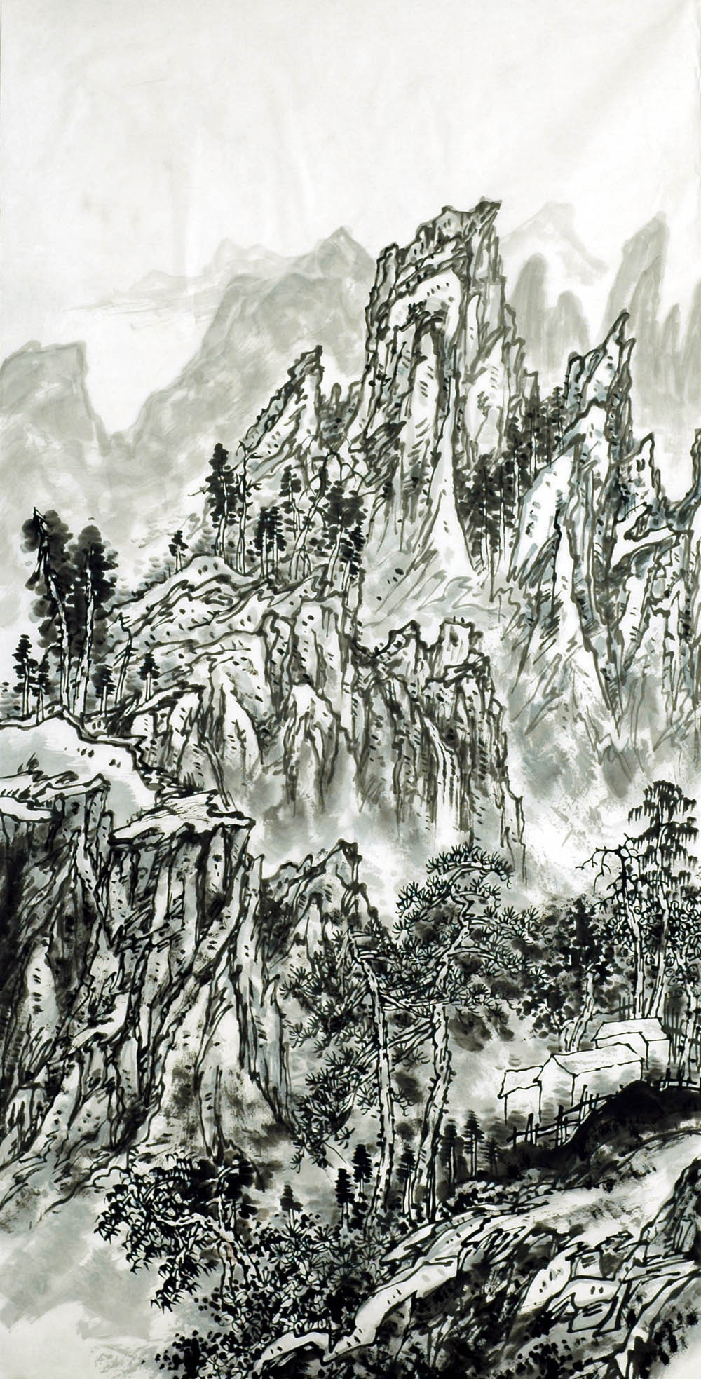 Chinese Landscape Painting - CNAG007144