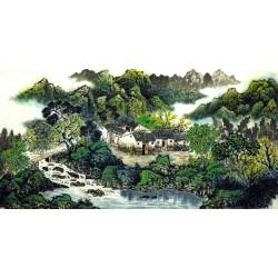 Chinese Landscape Painting - CNAG007308