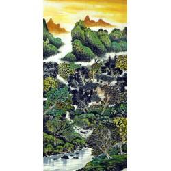 Chinese Landscape Painting - CNAG007318