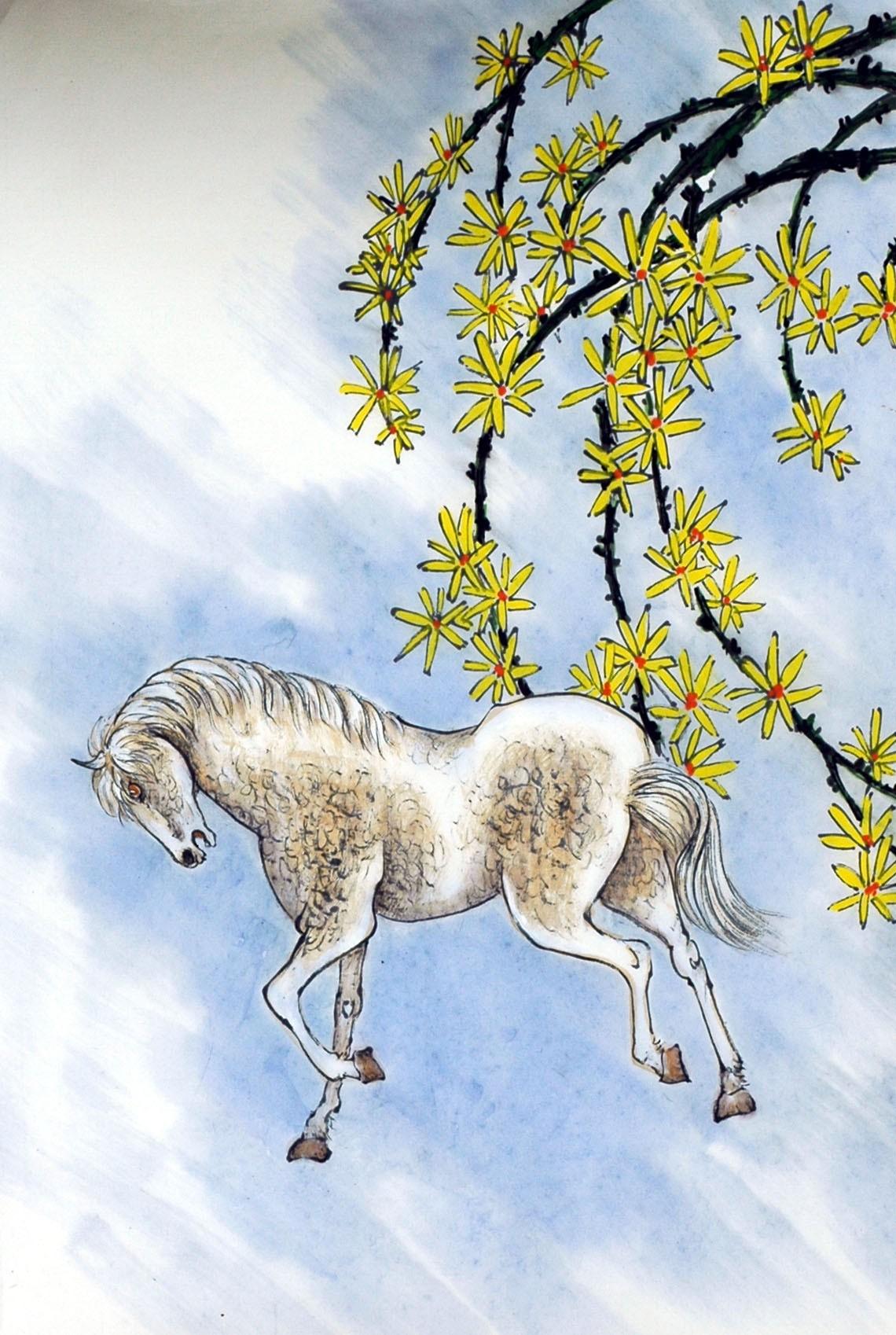 Chinese Horse Painting - CNAG007453