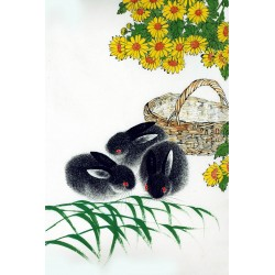 Chinese Rabbit Painting - CNAG007494