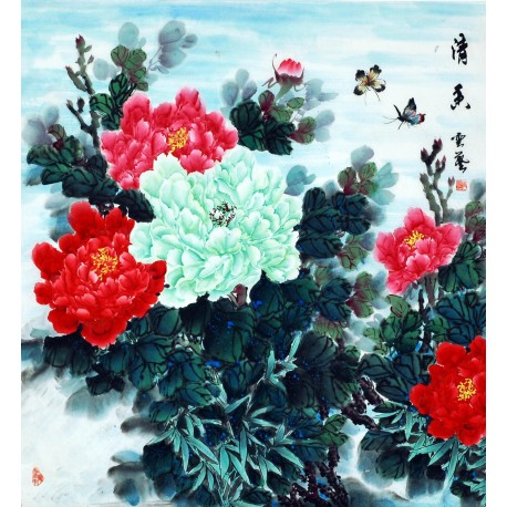 Chinese Peony Painting - CNAG007552