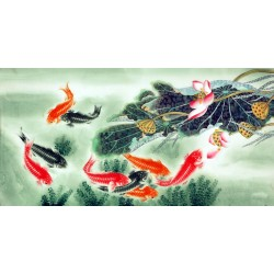 Chinese Fish Painting - CNAG007565