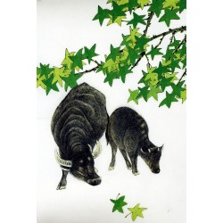 Chinese Cattle Painting - CNAG007579