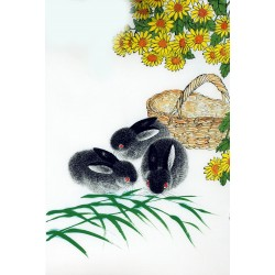 Chinese Rabbit Painting - CNAG007581