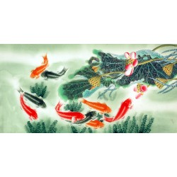 Chinese Fish Painting - CNAG007771