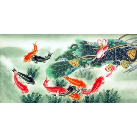 Chinese Fish Painting - CNAG007772
