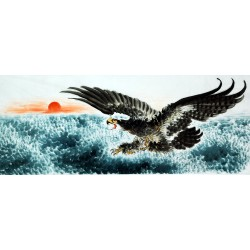 Chinese Eagle Painting - CNAG007798