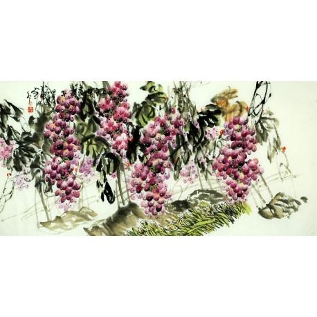 Chinese Grapes Painting - CNAG008039