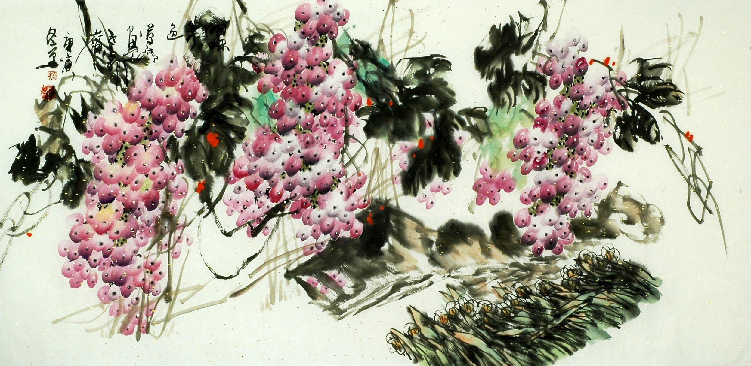Chinese Grapes Painting - CNAG008053