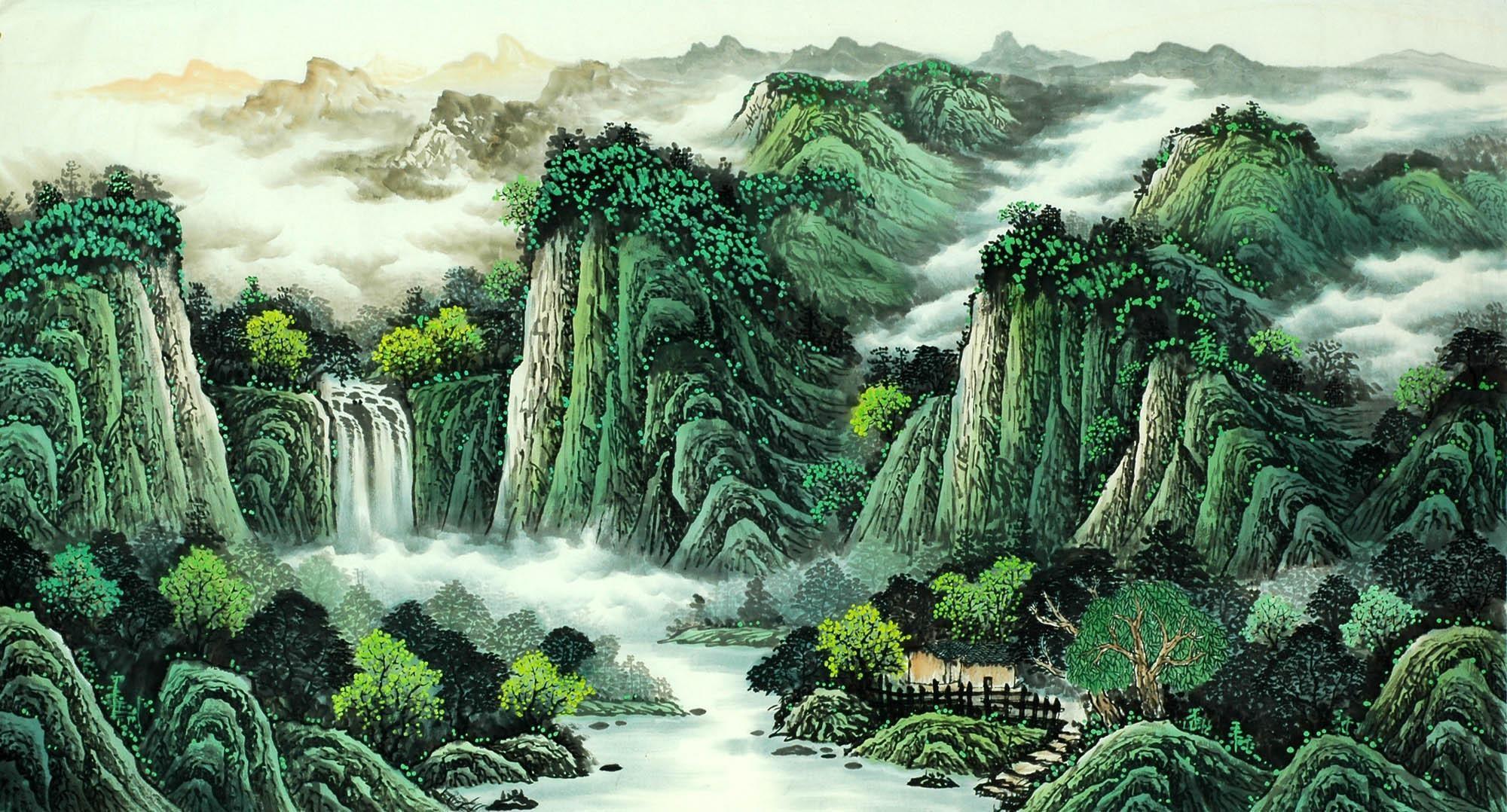 Chinese Landscape Painting - CNAG008103