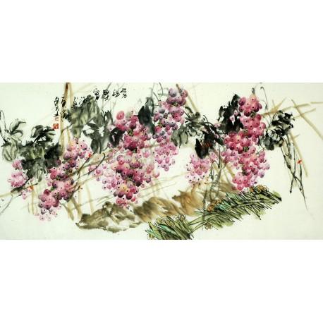 Chinese Grapes Painting - CNAG008260