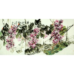 Chinese Grapes Painting - CNAG008264