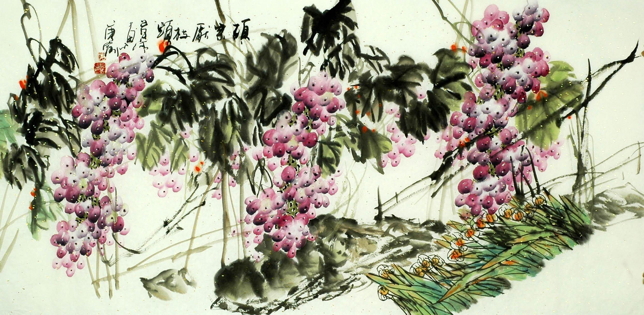 Chinese Grapes Painting - CNAG008264