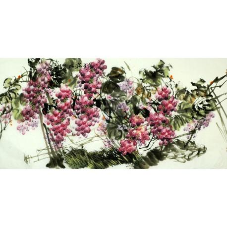 Chinese Grapes Painting - CNAG008268