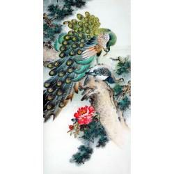 Chinese Peacock Painting - CNAG008278