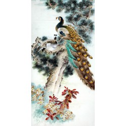 Chinese Peacock Painting - CNAG008279