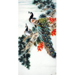 Chinese Peacock Painting - CNAG008280