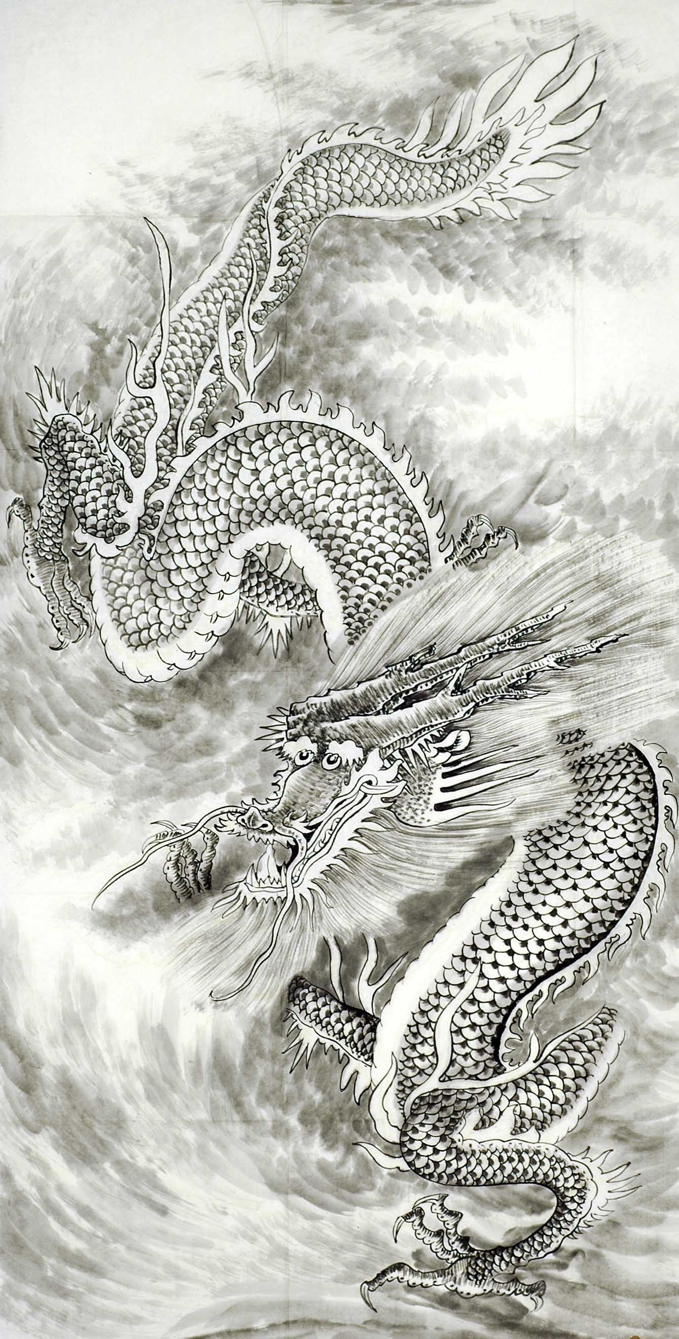 Chinese Dragon Painting - CNAG008718