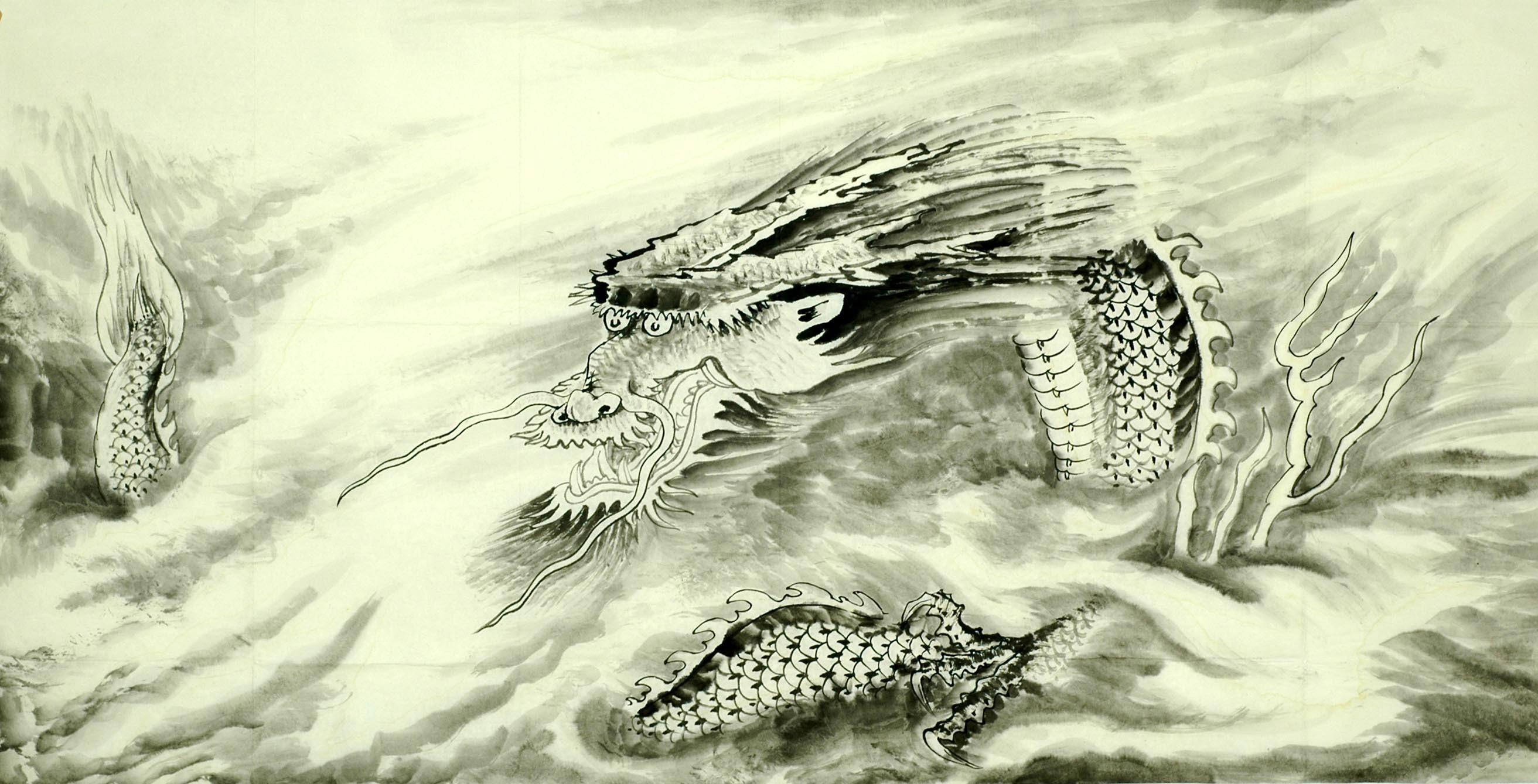 Chinese Dragon Painting - CNAG008724