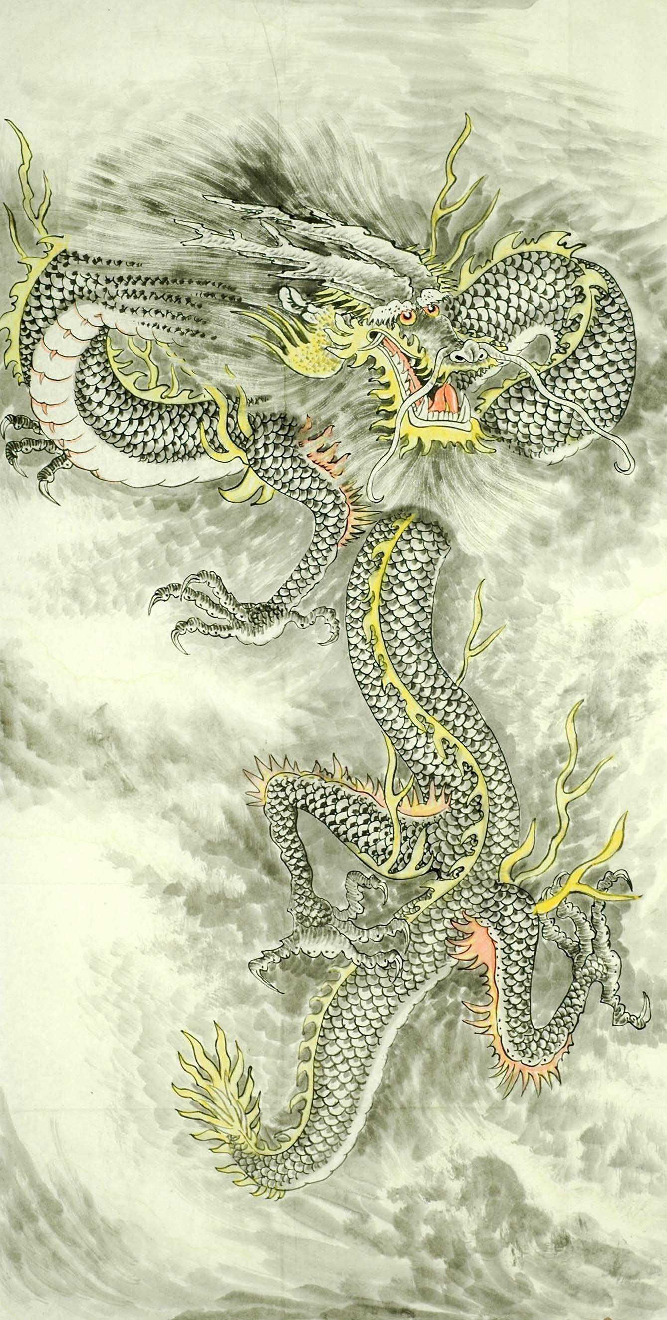 Chinese Dragon Painting - CNAG008725
