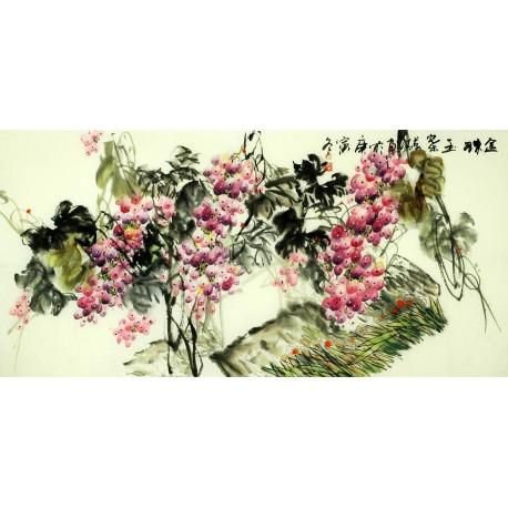 Chinese Grapes Painting - CNAG008872
