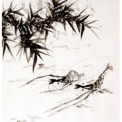 Chinese Shrimp Painting - CNAG008908