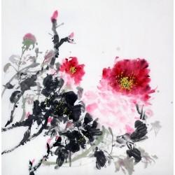 Chinese Peony Painting - CNAG009041