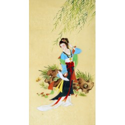 Chinese Beautiful Ladies Painting - CNAG009246