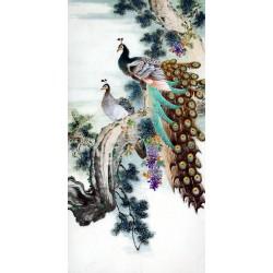 Chinese Peacock Painting - CNAG009515