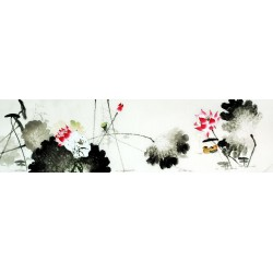 Chinese Lotus Painting - CNAG009536