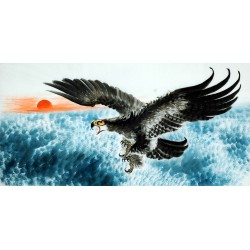 Chinese Eagle Painting - CNAG009732