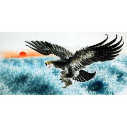 Chinese Eagle Painting - CNAG009733