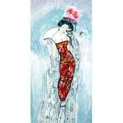 Chinese Beautiful Ladies Painting - CNAG010053