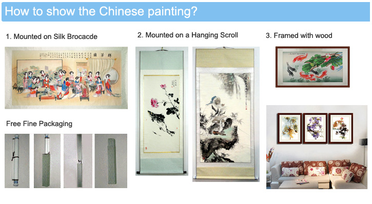 how to hang a chines paintings